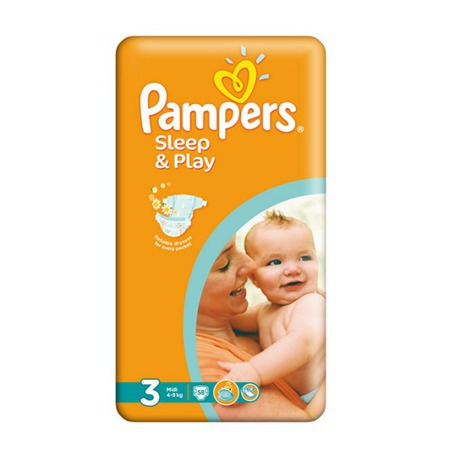 Pieluchy Pampers Sleep&Play 3 Midi 58szt